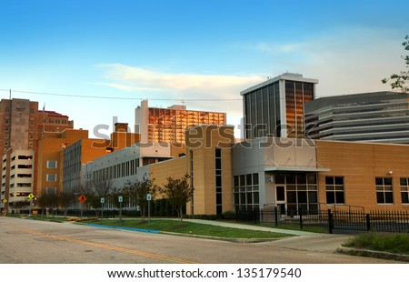 Downtown Jackson in Mississippi state - stock photo