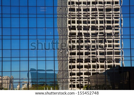 Downtown LA Los Angeles California cityscape details - stock photo