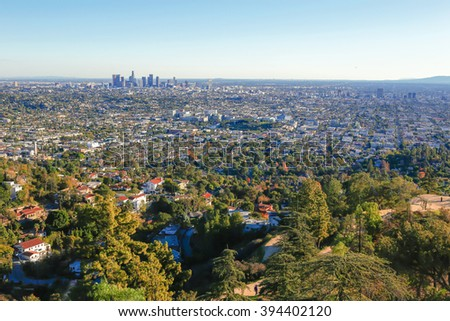 Downtown Los Angeles from Griffith Park