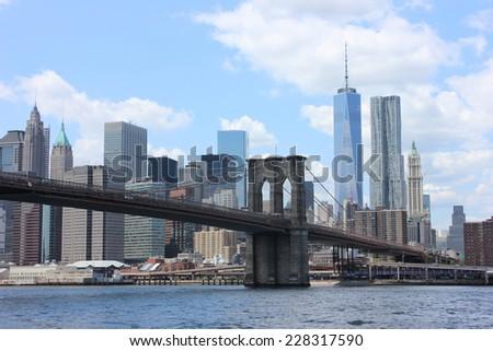 Downtown Manhattan - stock photo
