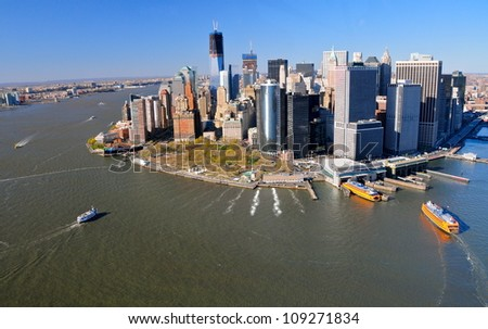 Downtown Manhattan, New York - stock photo