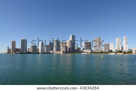 Downtown Miami Skyline, Florida USA