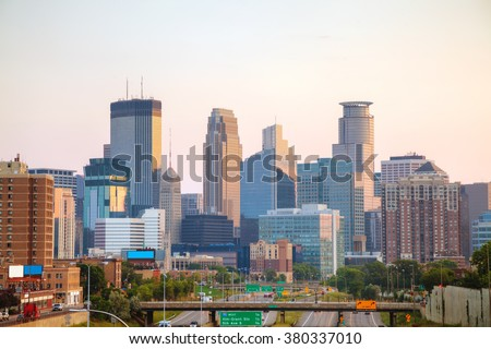 Downtown Minneapolis, Minnesota early in the morning