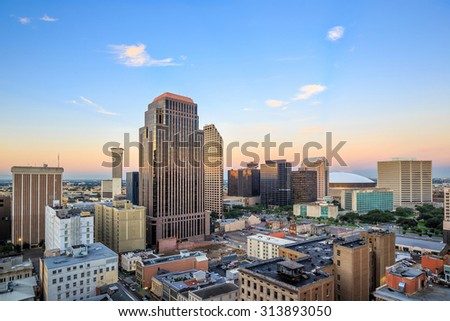 Downtown New Orleans, Louisiana, USA - stock photo
