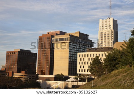 Downtown of Akron, Ohio - architecture of the city