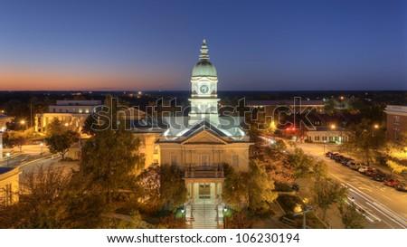 Downtown of Athens, Georgia, USA. - stock photo