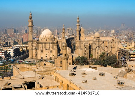 Downtown of Cairo seen from the Saladin Citadel (Egypt)