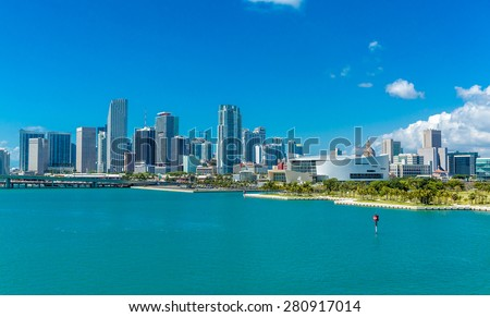 Downtown of Miami, Florida, USA - stock photo