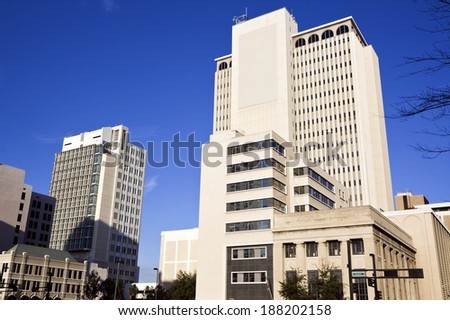 Downtown of Tampa seen late afternoon. - stock photo
