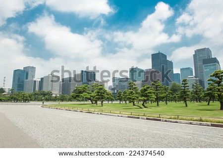 Downtown of Tokyo  - stock photo