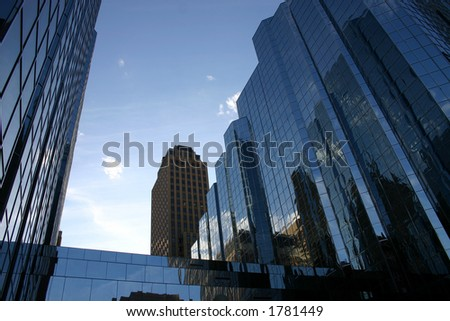 Downtown Reflection - stock photo