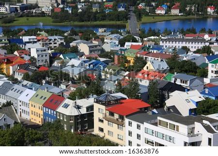 Downtown Reykjavik, Iceland. - stock photo