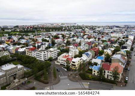 Downtown Reykjavik, Iceland - stock photo