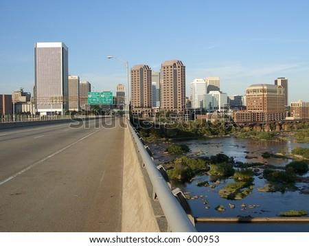 Downtown Richmond - stock photo