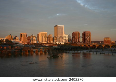 Downtown Richmond Virginia at Sunset - stock photo