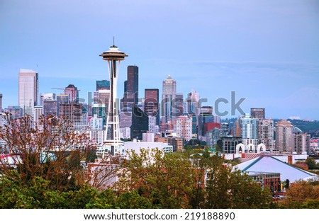Downtown Seattle  - stock photo