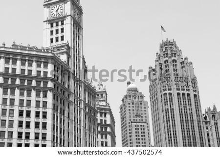Chicago Architecture Black And White chicago black and white stock images, royalty-free images