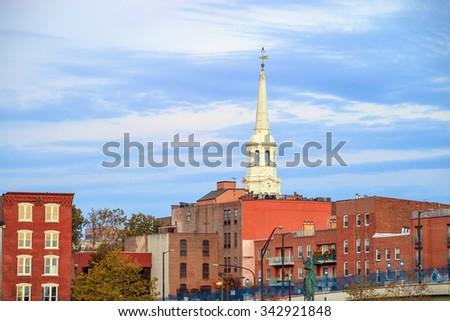 Downtown Skyline of Philadelphia, Pennsylvania - stock photo