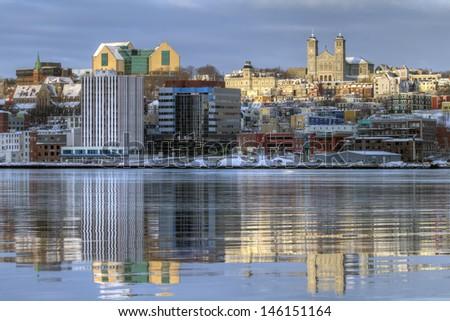 Downtown St. John's, Newfoundland - stock photo
