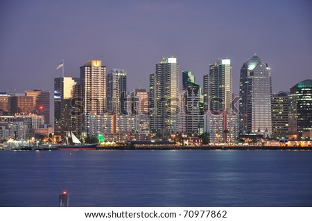 Downtown waterfront of San Diego, California. - stock photo