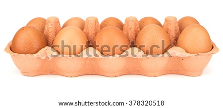 Dozen eggs - stock photo