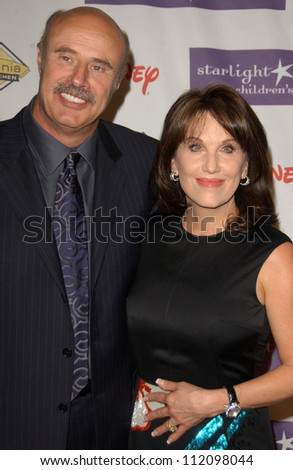 Stock photo dr phil mcgraw and robin mcgraw at starlight starbright