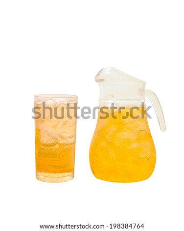 Draft beer on a white background - stock photo