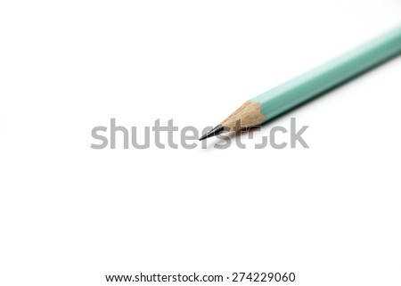 Drafting paper or graph paper with pencil. - stock photo