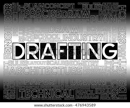 Drafting words meaning outline houses blueprint stock illustration drafting words meaning outline houses and blueprint malvernweather Image collections