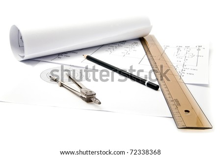 drafts are isolated white - stock photo