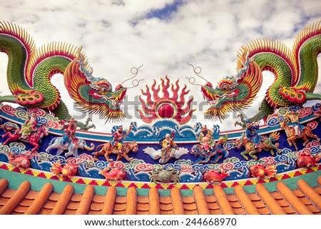 Dragon at Shrine - stock photo