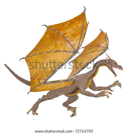dragon attack now - stock photo