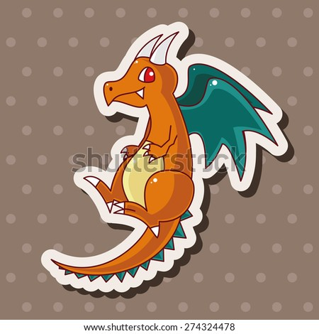 dragon , cartoon sticker icon