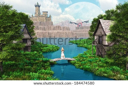 Dragon Castle - stock photo