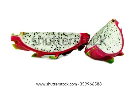 Dragon fruit isolated on white background.