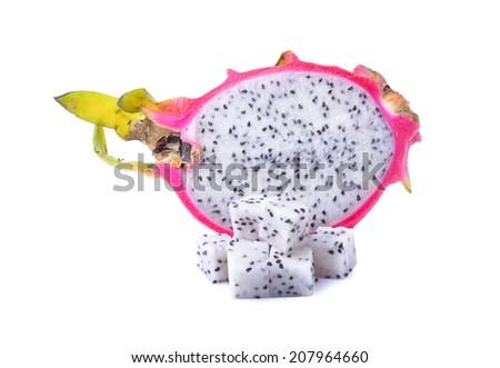 Dragon Fruit on white background - stock photo