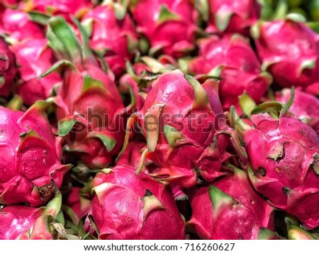 Dragon Fruit ,Red gelled Pink