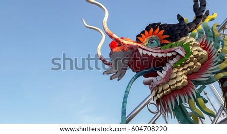Dragon head statue