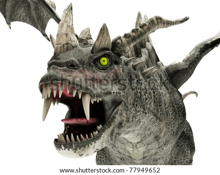 dragon monster close up - stock photo