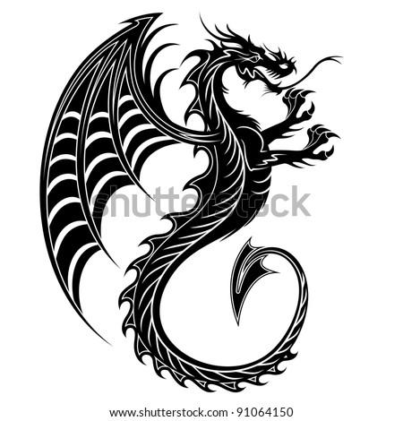 Dragon Tattoo Symbol-2012 - stock photo