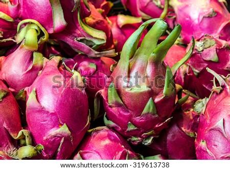 Dragon Thai fruit, Thailand  - stock photo
