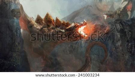 Dragon to fight the dragon - stock photo