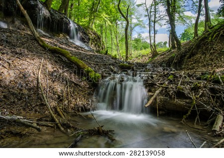Dragon Well in the mountains Biele Karpaty Slovakia . - stock photo