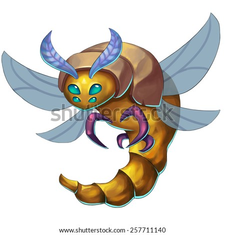 Dragonfly Monster - Creature Design - stock photo