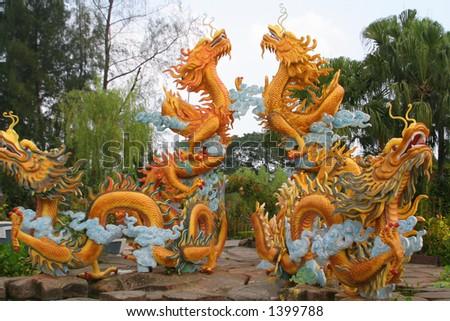 Dragons sculpture - stock photo