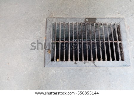 Drain on the floor