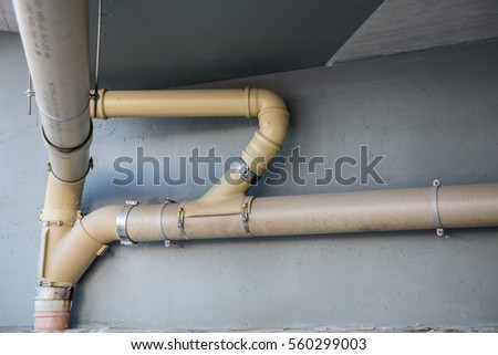 drain pipes under a highway bridge & Drain Pipes Under Highway Bridge Stock Photo (Safe to Use) 560299003 ...