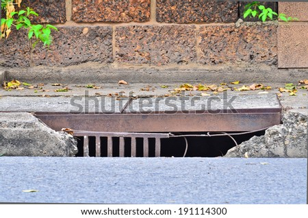drainage channels - stock photo