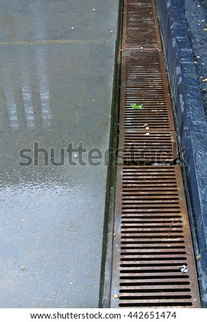 drainage grate  - stock photo
