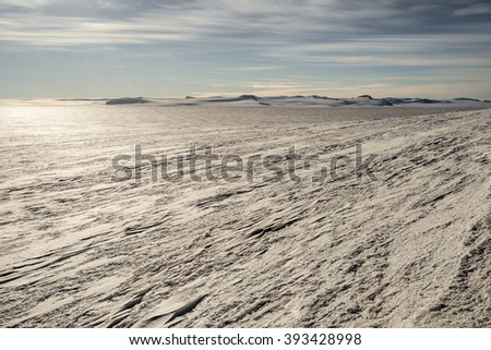 Dramatic Antarctic scene - stock photo